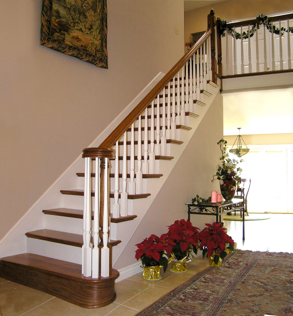 Marvelous Railings And Stairs Two Tone With Volute